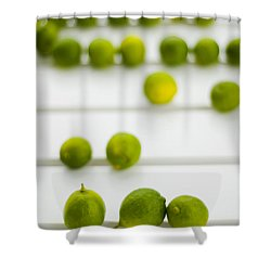 Lime Green Shower Curtain by Skip Hunt