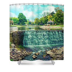 Shower Curtain featuring the photograph Lime Kiln Park Waterfall by Joel Witmeyer