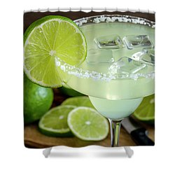 Shower Curtain featuring the photograph Lime Margarita Drink by Teri Virbickis