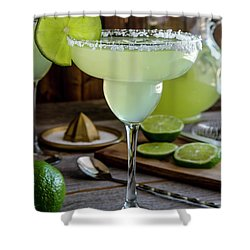Shower Curtain featuring the photograph Lime Margaritas by Teri Virbickis