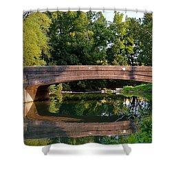 Lime Valley Bridge Shower Curtain