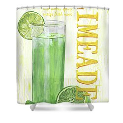 Shower Curtain featuring the painting Limeade by Debbie DeWitt