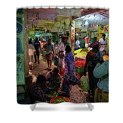 Shower Curtain featuring the photograph Limes For Sale by Mike Reid
