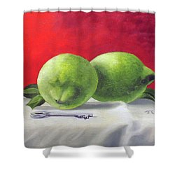 Limes Shower Curtain by Tim Johnson