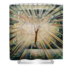 Limitless Shower Curtain by Nad Wolinska