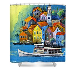 Limone Shower Curtain by Mikhail Zarovny