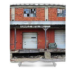 Shower Curtain featuring the photograph Linale Mfg by Christopher McKenzie