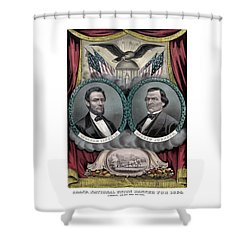 Lincoln And Johnson Election Banner 1864 Shower Curtain by War Is Hell Store