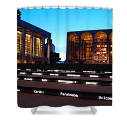 Lincoln Center Shower Curtain by James Kirkikis
