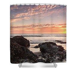 Lincoln City Beach Sunset - Oregon Coast Shower Curtain by Brian Harig