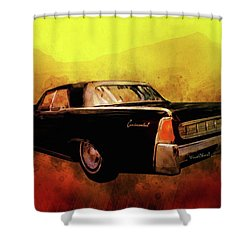 Lincoln Continental Shrine To Understated Good Looks Shower Curtain