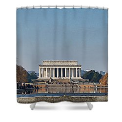Lincoln From Afar Shower Curtain