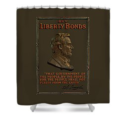 Lincoln Gettysburg Address Quote Shower Curtain by War Is Hell Store