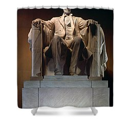 Lincoln Memorial: Statue Shower Curtain by Granger