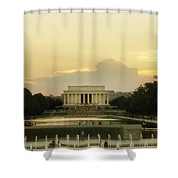 Lincoln Memorial Sunset Shower Curtain
