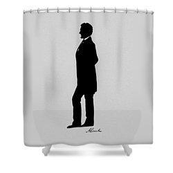 Lincoln Silhouette And Signature Shower Curtain