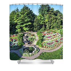 Lincoln's Sunken Gardens Shower Curtain