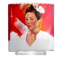 Linda Lightbody Shower Curtain