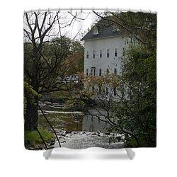 Linden Mill Pond Shower Curtain by Tara Lynn