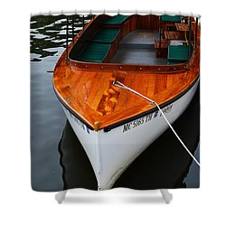 Lindy Lou Wood Boat Shower Curtain