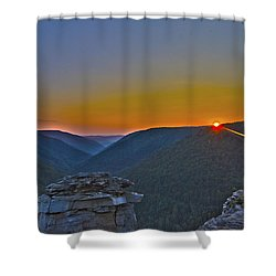 Lindy Point Sunset Shower Curtain