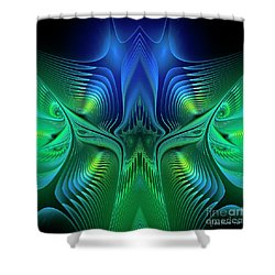 Shower Curtain featuring the digital art Line Art by Jutta Maria Pusl