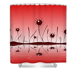 Line Of Defense Shower Curtain by Anastasiya Malakhova