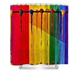 Line Of Fall Colors Shower Curtain