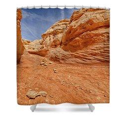 Line Shot Shower Curtain