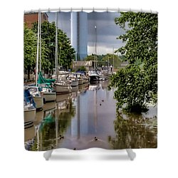 Shower Curtain featuring the photograph Line Up  by Leif Sohlman