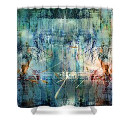 Line Up Strategy Shower Curtain