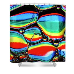 Shower Curtain featuring the photograph Lined Bubbles by Jean Noren