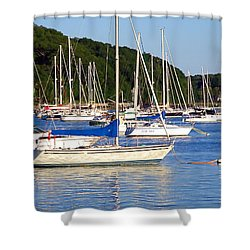 Shower Curtain featuring the photograph Lined Up by  Newwwman