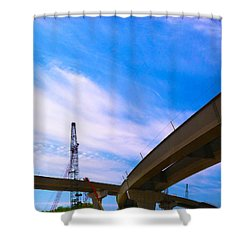 Shower Curtain featuring the photograph Lineing The Sky by Jamie Lynn