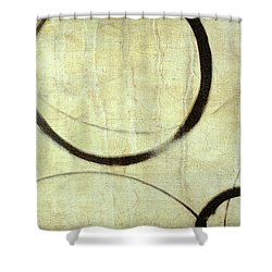 Shower Curtain featuring the painting Linen Ensos by Julie Niemela