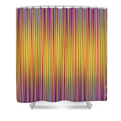Shower Curtain featuring the digital art Lines 102 by Bruce Stanfield