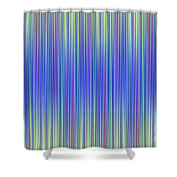 Shower Curtain featuring the digital art Lines 103 by Bruce Stanfield