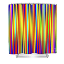 Shower Curtain featuring the digital art Lines 17 by Bruce Stanfield