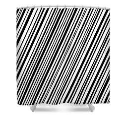 Shower Curtain featuring the digital art Lines 7 Diag by Bruce Stanfield