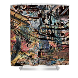 Lines And Colors Shower Curtain