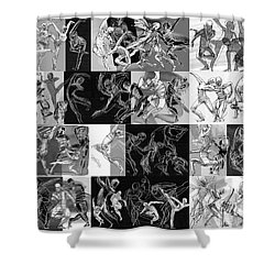 Lines Ballet Moves Shower Curtain