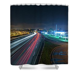 Shower Curtain featuring the photograph Lines  by Bruno Rosa