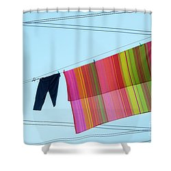 Lines In The Sky Shower Curtain