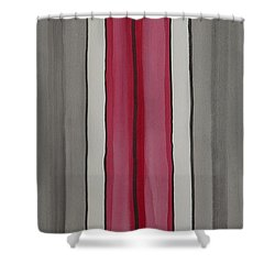 Shower Curtain featuring the painting Lines by Jacqueline Athmann