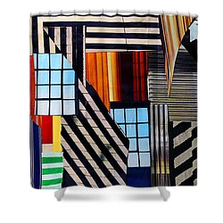 Lines Shower Curtain by Mary Bedy