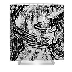 Lines Of Love Shower Curtain