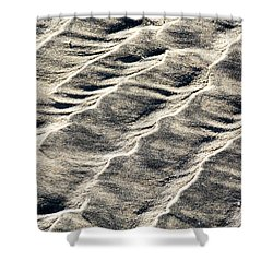 Lines On The Beach Shower Curtain