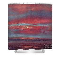 Lingering Heat Shower Curtain by Valerie Travers