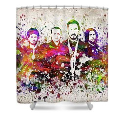 Linkin Park In Color Shower Curtain