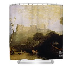 Linlithgow Palace Shower Curtain by Joseph Mallord William Turner
